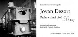 Pozvánka Praha v zimě před 50 lety